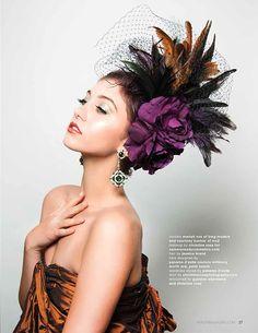 #Fashion editorial #HerLife magazine #ChristineRosePhotography #Yaby #CRC #Courtney Bucher #MC2 #fascinators #hats #Couturehats #Panama D'avila Couture Millinery #JessicaBrand
