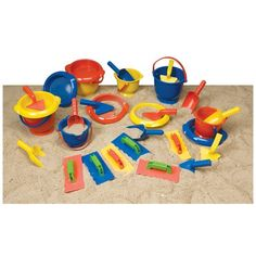 Build the ultimate sand-castle with these tools. Use these buckets, sifters, scoops, spades, and trowels to create a fantastic castle on the beach. Make sure to build a moat to protect your castle from invaders! Sand Play, Water Play, Cool Gifts, Best Gifts, School Social Work, Sand And Water, Water Activities, Sand Art, Kids Learning