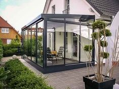 Pergola Attached To House Roof Extension Veranda, House Extension Design, House Design, Outdoor Rooms, Outdoor Gardens, Outdoor Living, Glass Room, Marquise, Earthship