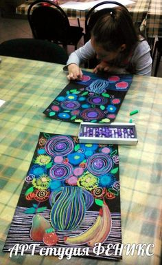 Scroll through photos for more ideas. school art, art plastique и arts visu Painting For Kids, Art For Kids, 2nd Grade Art, Art Lessons Elementary, Pastel Art, Art Club, Art Plastique, Art Activities, Teaching Art