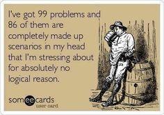 99 Problems E-card, anxiety, pregnancy, motherhood