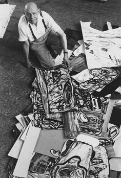 Jean Dubuffet In his studio 1985 | Kurt Wyss