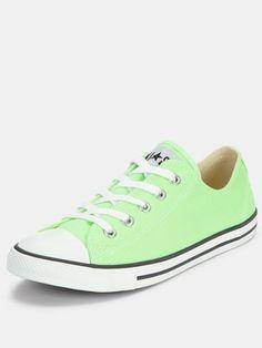 buy online 06bbf ea8aa Chuck Taylor All Star Dainty Green Plimsolls Green Converse, Cute Converse,  Converse Sneakers,