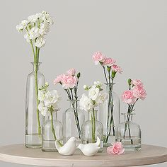 Decorating Glass Bottle Set from The Knot Shop $16.75 for 6