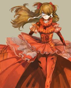 Browse Asuka Langley Soryu neon genesis evangelion collected by Kris Xavier and make your own Anime album. Neon Genesis Evangelion, Asuka Langley Soryu, Super Robot, Tsundere, Cultura Pop, Kawaii Cute, Gray Background, Anime Comics, Cosplay Costumes