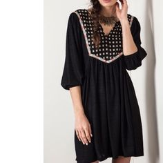 """❗️ CLEARANCE Boho Dress - Black New without tags 
