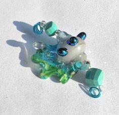 Sea Queen Fantasy Seashell SRA Lampwork Dichroic by PinkCowGoddess