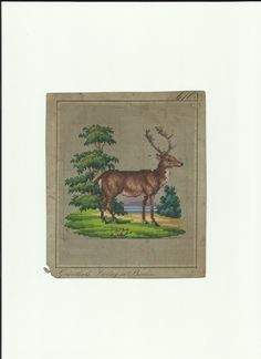 A Berlin WoolWork Pattern ~ Stag ~ Produced By Grunthals Verlag