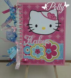 Manualidades Polly: LIBRETA ALTERADA KITTY