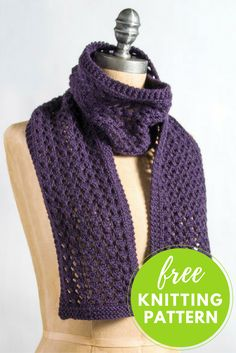 One Skein Project - Extra Quick and Easy lace Scarf Free Knitting Pattern!