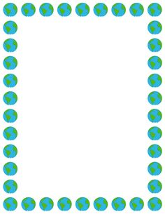 Printable earth border. Free GIF, JPG, PDF, and PNG downloads at http://pageborders.org/download/earth-border/. EPS and AI versions are also available.