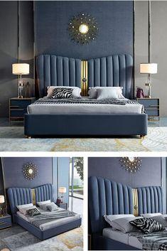 Bedding Master Bedroom, Bedroom Bed Design, Master Bedrooms, Home Decor Bedroom, Bedroom Ideas, Bedroom Furniture, Furniture Design, Double Bed Designs, Wood Bed Design