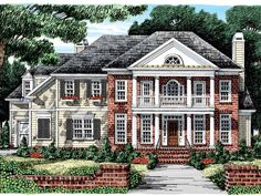 Eplans Greek Revival House Plan - Delightful Double-Decker Porch - 3449 Square Feet and 5 Bedrooms(s) from Eplans - House Plan Code HWEPL09554