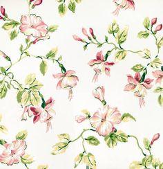 Waverly Fuchsia Feminine Floral Wallpaper