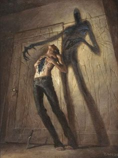 Horror Art by Chris Rahn Arte Horror, Horror Art, Chris Rahn, Creepy Art, Scary, Images Gif, Demon Art, Call Of Cthulhu, World Of Darkness