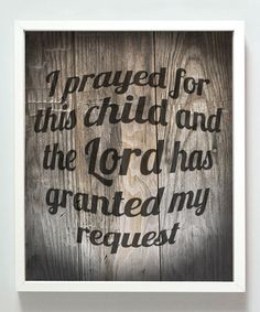 Look at this 'I Prayed for this Child' Print on #zulily today!