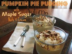 Pumpkin Pie Pudding Recipe! #dessert #recipes