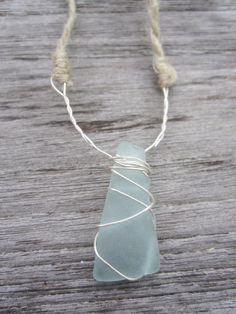 sea glass necklace, but a regular necklace chain.  Would love it out of my own sea glass.