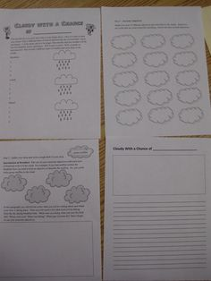 Cloudy with a Chance of Meatballs writing activities