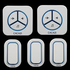 CACAZI-9909-3 Transmitters+2 ReceiversAC 110/220V wireless Doorbell  sc 1 st  Pinterest & 504D LED Wireless Chime Door Bell Doorbell \u0026 Wireles Remote control ...