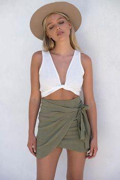 Celeste Skirt - Khaki – Style Addict
