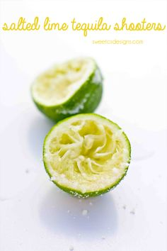 Salted lime tequila shooters- THIS is the best way to drink tequila! Perfect for Cinco de Mayo!