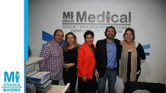 Jorge Puche, director de audiovisuales de Visionary, con Javier Hidalgo, Director Médico de Mi Medical, María José Urraca, directora de eventos, y amigas.