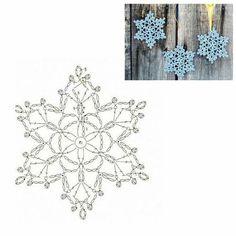 Crochet Snowflake Pattern, Crochet Stars, Crochet Snowflakes, Crochet Motif, Crochet Stitches, Crochet Hooks, Knit Crochet, Crochet Patterns, Snow Flakes Diy