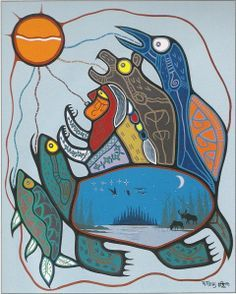 Thomas, Roy (First Nations artist)_Gratitude Modern Indian Art, Native Canadian, Thanksgiving Prayer, Aboriginal Painting, Native American Artists, Coastal Art, Indigenous Art, Native Art, First Nations