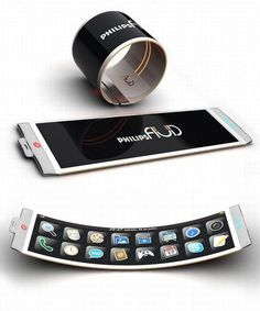 Rolling and Folding Phone Concepts by Samsung  #What?!