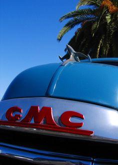 Vintage GMC Truck Hood and Emblem  Classic by RetroRoadsidePhoto