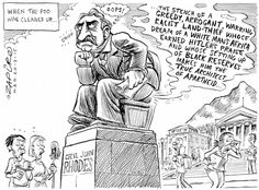 Wilf Nussey: Racist SA iconoclasts foolishly risk causing ISIS-like carnage.  SA's top cartoonist Zapiro offers his thoughts on UCT's Rhodes statue debate. More of his work at  http://www.zapiro.com/