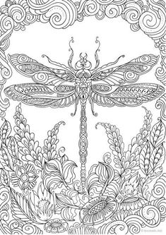 Adult Coloring Book Pages Gallery dragonfly printable adult coloring page from favoreads Adult Coloring Book Pages. Here is Adult Coloring Book Pages Gallery for you. Adult Coloring Book Pages tea time printable adult coloring page from fa. Detailed Coloring Pages, Mandala Coloring Pages, Animal Coloring Pages, Free Coloring Pages, Coloring Books, Kids Coloring, Coloring Pages For Adults, Coloring Pages Nature, Fairy Coloring Pages