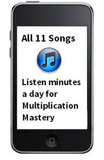 Listen minutes a day and master the multiplication facts!