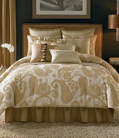 Candice Olson Frill Seekers Bedding Collection Dillards queen set= + pillows and sheets Candice Olson Bedding, Home Bedroom, Bedroom Decor, Modern Furniture, Furniture Design, Do It Yourself Home, Bedroom Colors, Beautiful Bedrooms, Bedding Collections
