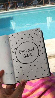 Eenvoud siert. #notebook #sketchbook