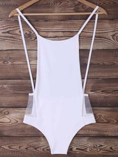 sexy white one piece maillot~