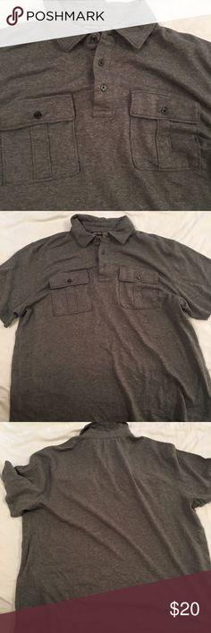 Michael Kors men's gray polo XL Michael Kors shirt  polo style  Gray men's size extra large  chest is 26 inches across  length is 27 inches Michael Kors Shirts Polos