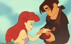 Ariel and Jim    love this pic for so many reasons <3