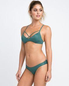Rvca Solid Cheeky Bikini Bottoms - Mallard Green S Hot Bikini, Bikini Girls, Bikini Bottoms, Cheeky Bikini, Green Bikini, Womens Swimming Costumes, Bikini Outfits, Bikini Photos, Bikini Fashion