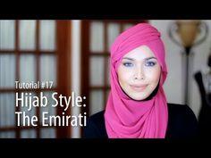 [Adlina Anis] Hijab Tutorial 17   The Emirati - YouTube