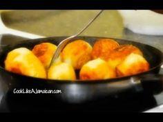 Easy Jamaican Fried Dumplings Recipe Video - YouTube Jamaican Cuisine, Jamaican Dishes, Jamaican Recipes, Jamaican Appetizers, Jamaican Desserts, Hot Appetizers, Carribean Food, Caribbean Recipes, Fry Dumpling Recipe