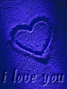 SAPPHIRE electric blue :: I Love You Blue