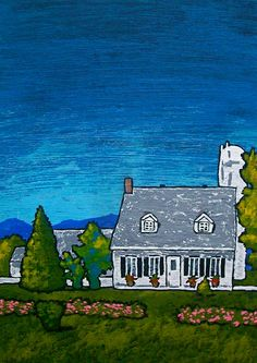 House on Île d'Orléans ORIGINAL ACRYLIC PAINTING 5 by MikeKrausArt