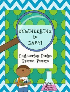 UPDATED cover and added a complete second set of posters to this freebie! Science Topics, Teaching Science, Science Projects, School Projects, Science Ideas, Engineering Design Process, 21st Century Classroom, Steam Education, 4th Grade Science