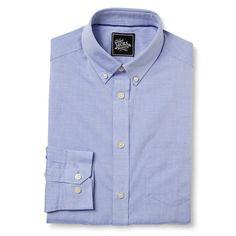Men's Button Collar Dress Shirt Light Blue