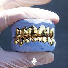 14kt solid gold grill set, custom made for @whobemackin. #IFANDCO