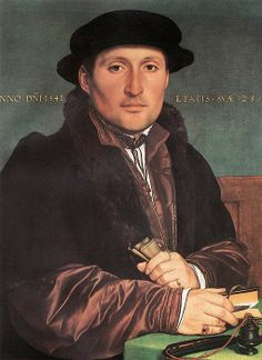 Common hat style. An Unknown Man by Hans Holbein, 1541 ~ I've made this hat in velvet. It was far to hot for my poor lord so I'll make it in a breathable fabric next.