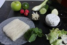 #Ohlovelyplace : Miam recette - rouleau de #printemps #vegetarien #cuisine #light #concombre #courgette #radis #fenouil #citron #menthe #pomme #soja #vegan