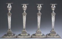 Four (4) Tiffany & Co. Sterling Candlesticks